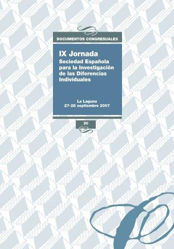 IX Jornada - Facultad de Psicología - Universidad de La Laguna