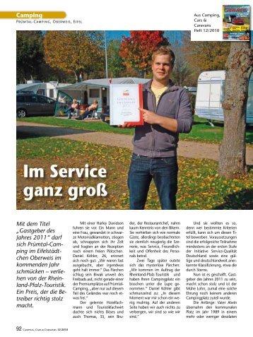 "Artikel ""Camping, Cars & Caravans"" Heft 12/2010 - Prümtal ..."