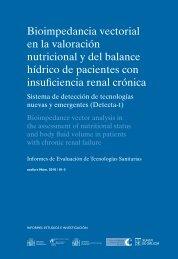 Bioimpedancia vectorial en la valoración nutricional y del ... - Sergas