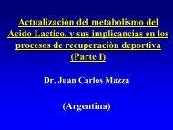 9 Acido Lactico, ejercicio y procesos de recuperaciòn