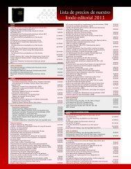 Lista de precios de nuestro fondo editorial 2013 - Tax Editores ...