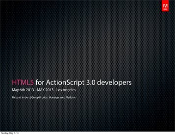 HTML5 for ActionScript 3.0 developers