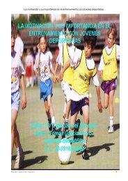 La motivación y su importancia en el entrenamiento con jóvenes ...