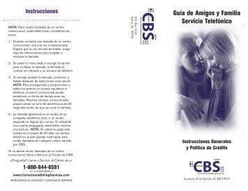 Guia de Amigos y Familia Servicio Telefonico por les centro ...