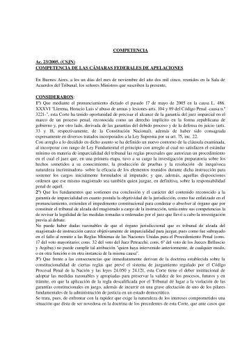 Competencia - Poder Judicial de la Provincia de Misiones