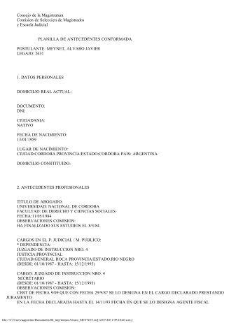 Dr. Álvaro Javier MEYNET - Ministerio de Justicia y Derechos ...