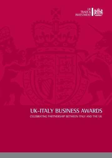 Scarica la brochure in formato PDF - UK-Italy Business Awards