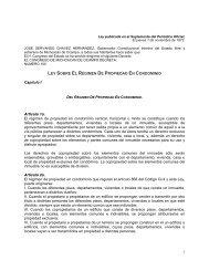 LEY SOBRE EL RÉGIMEN DE PROPIEDAD EN CONDOMINIO ...