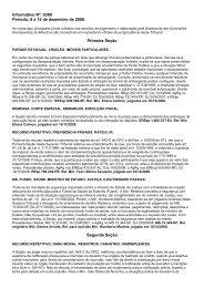 Informativo Nº: 0380 Período: 8 a 12 de dezembro de 2008. Primeira ...