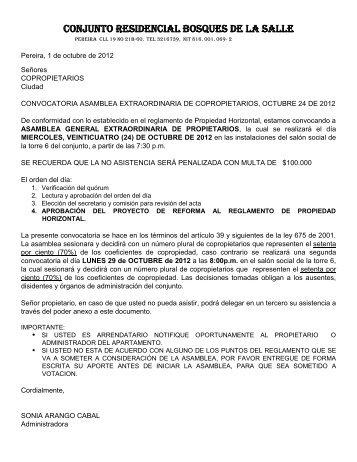 CONJUNTO RESIDENCIAL BOSQUES DE LA SALLE - Webnode