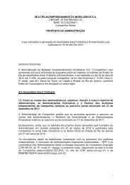 MULTIPLAN EMPREENDIMENTOS IMOBILIÁRIOS S.A. CNPJ/MF ...