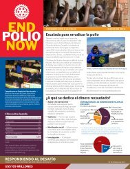 escalada para erradicar la polio - Rotary International
