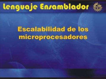 Escalabilidad de los microprocesadores