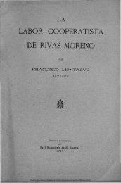 La labor cooperativista de Rivas Moreno - Universidad de Castilla ...