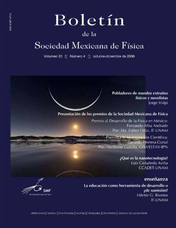 Volumen 20 Número 4 octubre-diciembre - Sociedad Mexicana de ...