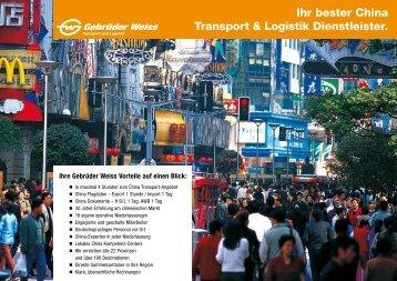 Ihr bester China Transport & Logistik Dienstleister.
