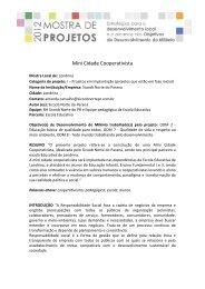 Mini Cidade Cooperativista - Fiep