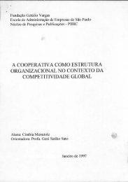 a cooperativa como estrutura organizacional no ... - GV Pesquisa