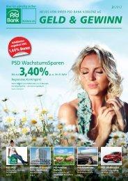 Geld & Gewinn, Ausgabe 02/2012 - PSD Bank Koblenz eG