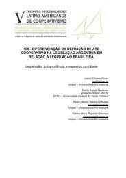 DIFERENCIAÇÃO DA DEFINIÇÃO DE ATO COOPERATIVO NA ...
