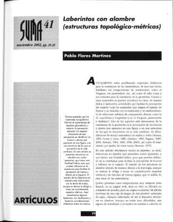 laberintos con alambre - SUMA Revistas de matemáticas