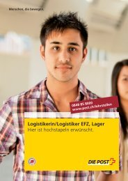 Logistikerin/Logistiker EFZ, Lager