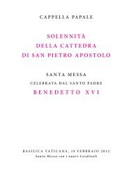 solennità della cattedra di san pietro apostolo ... - La Santa Sede
