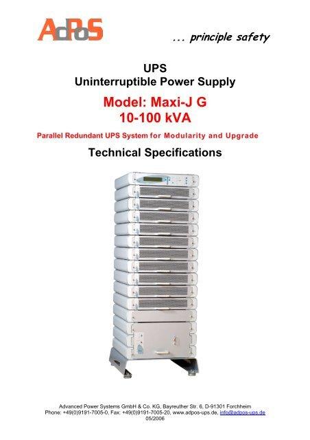 Maxi-J G 10-100 kVA