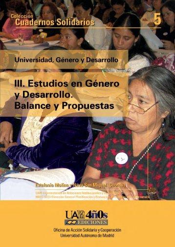 Estudios en género y desarrollo. Balance y propuestas - Diálogos ...