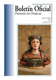 Boletín Oficial del Obispado de Ourense - Junio 2009 - Diocese de ...