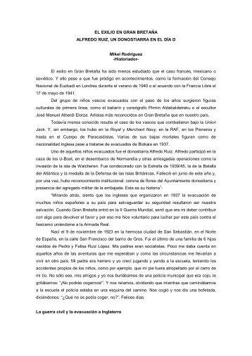 EL EXILIO EN GRAN BRETAÑA - Hamaika Bide Elkartea