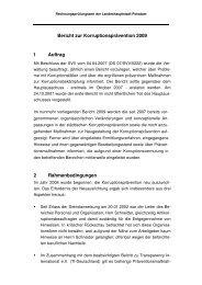 Bericht zur Korruptionsprävention 2009 1 Auftrag 2 ... - Potsdam