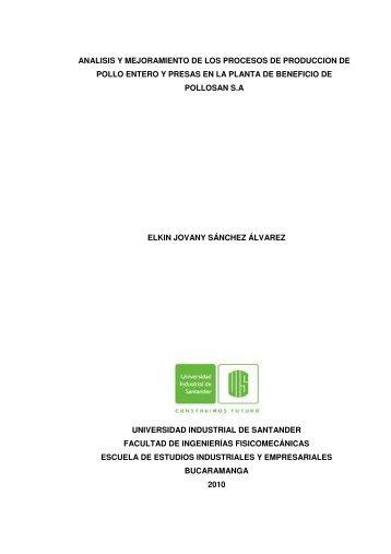 analisis y mejoramiento de los procesos de produccion de pollo ...