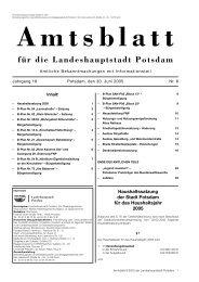 Amtsblatt 8/2005, PDF (549 kB) - Potsdam