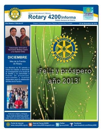 27 de Diciembre del 2012 - Distrito 4200