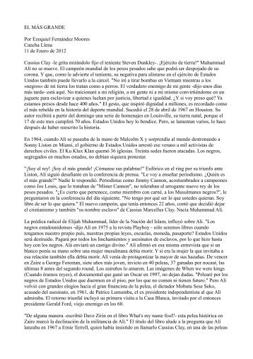 EL MÁS GRANDE Por Ezequiel Fernández ... - Winisis On Line