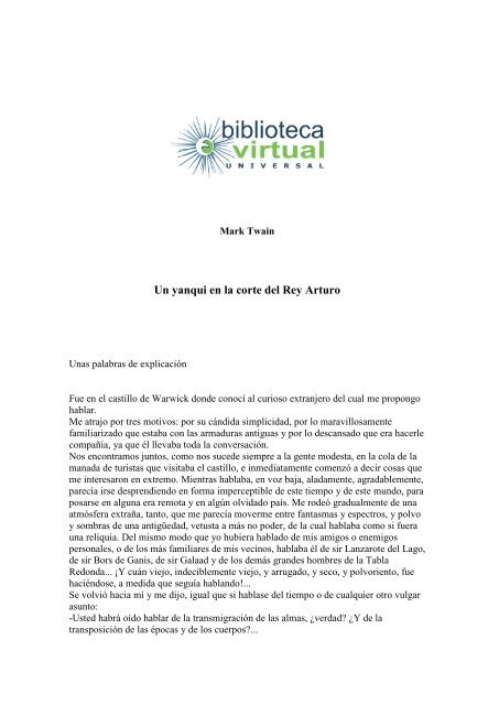Del En Rey Virtual Universal Un Yanqui Biblioteca La Arturo Corte hQxrCdts