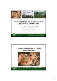 Políticas públicas e o financiamento da produção de café no Brasil