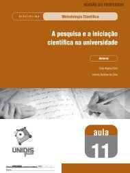 A pesquisa e a iniciação científica na universidade - SEAD/UEPB ...