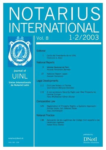 1-2/2003 UINL - Notarius International