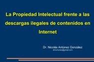 La Propiedad Intelectual frente a las descargas ilegales de ...