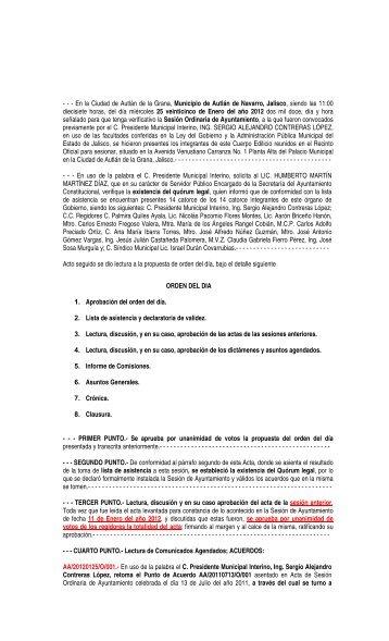 En la Ciudad de Autlán de la Grana, Municipio de Autlán de Navarro ...