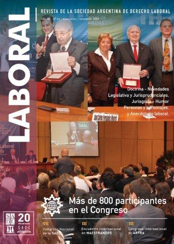 novedades legislativas - Sociedad Argentina de Derecho Laboral