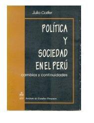 Política y sociedad en el Perú - Latin American Network Information ...