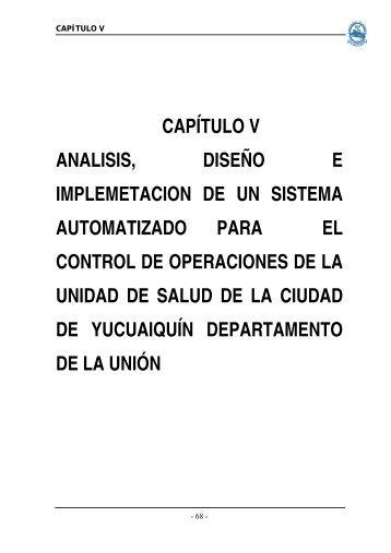 Capítulo V. Análisis - Universidad de Oriente