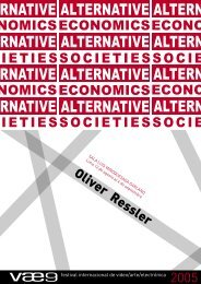 Alternative Economics, Alternatives Societies - Festival Internacional ...