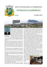 INFORMATIVO DA RIBEIRINHA - Junta de Freguesia da Ribeirinha