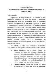 Carta de Vacaria. - Associação Brasileira de Produtores de Maçã