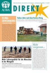 Lebensqualität für die Menschen in der Mongolei - Adra