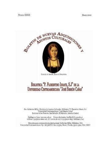 Boletín No. 39, Marzo 2010 [PDF, 888 KB ] - Universidad ...